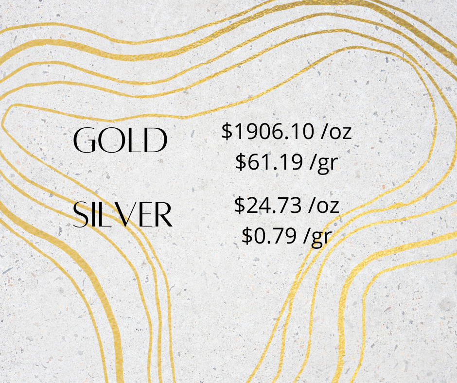 gold silver 1 2 - Gold and Silver Prices for October 20, 2020