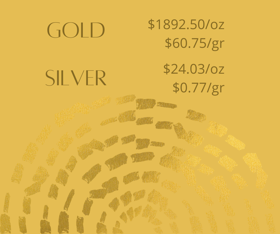 gold silver 3 - Gold and Silver Prices for October 13, 2020