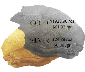 1887.00  oz 60.57  gr 300x251 - Gold and Silver Prices - November 5, 2020